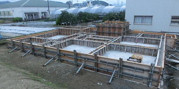 建物基礎工事写真